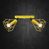 Настенный светильник, бра поворотное, потолочная лампа  RUBY/LS-2 желтый