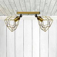 Настенный светильник, бра поворотное, потолочная лампа  RUBY/LS-2 золото