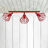 Настенный светильник, бра поворотное, потолочная лампа  SKRAB/LS-3 красный