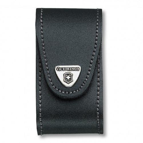 Чехол Victorinox поясний черный кожаный 4.0521.3