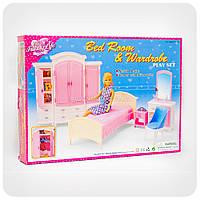 Игрушечная мебель для кукол «Гардероб и спальня»