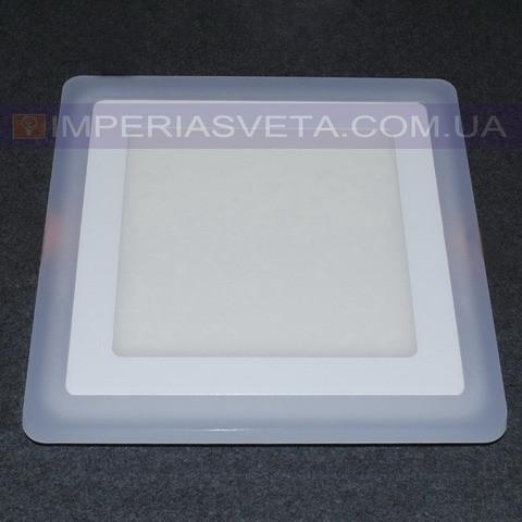 Светильник светодиодный дневного света IMPERIA панель 16W сверхтонкий квадрат RGB встраиваемый LUX-526556