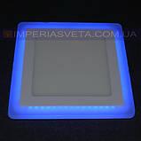 Светильник светодиодный дневного света IMPERIA панель 16W сверхтонкий квадрат RGB встраиваемый LUX-526556, фото 2