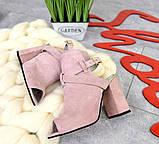 Элегантные женские замшевые босоножки на высоком устойчивом каблуке (разные цвета), фото 7