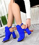 Элегантные женские замшевые босоножки на высоком устойчивом каблуке (разные цвета), фото 8