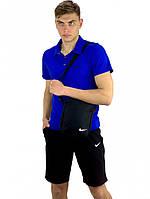 Костюм мужской Nike шорты, футболка электрик + барсетка в подарок