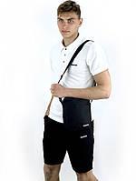 Костюм мужской Reebok шорты черные , футболка белая + барсетка в подарок