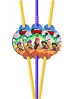 Коктейльные трубочки с гофрой Бравл Старс (10 шт.) малотиражное издание-