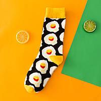 Шкарпетки носки Яєшня чорні