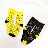 Шкарпетки носки Комікси чорні і жовті