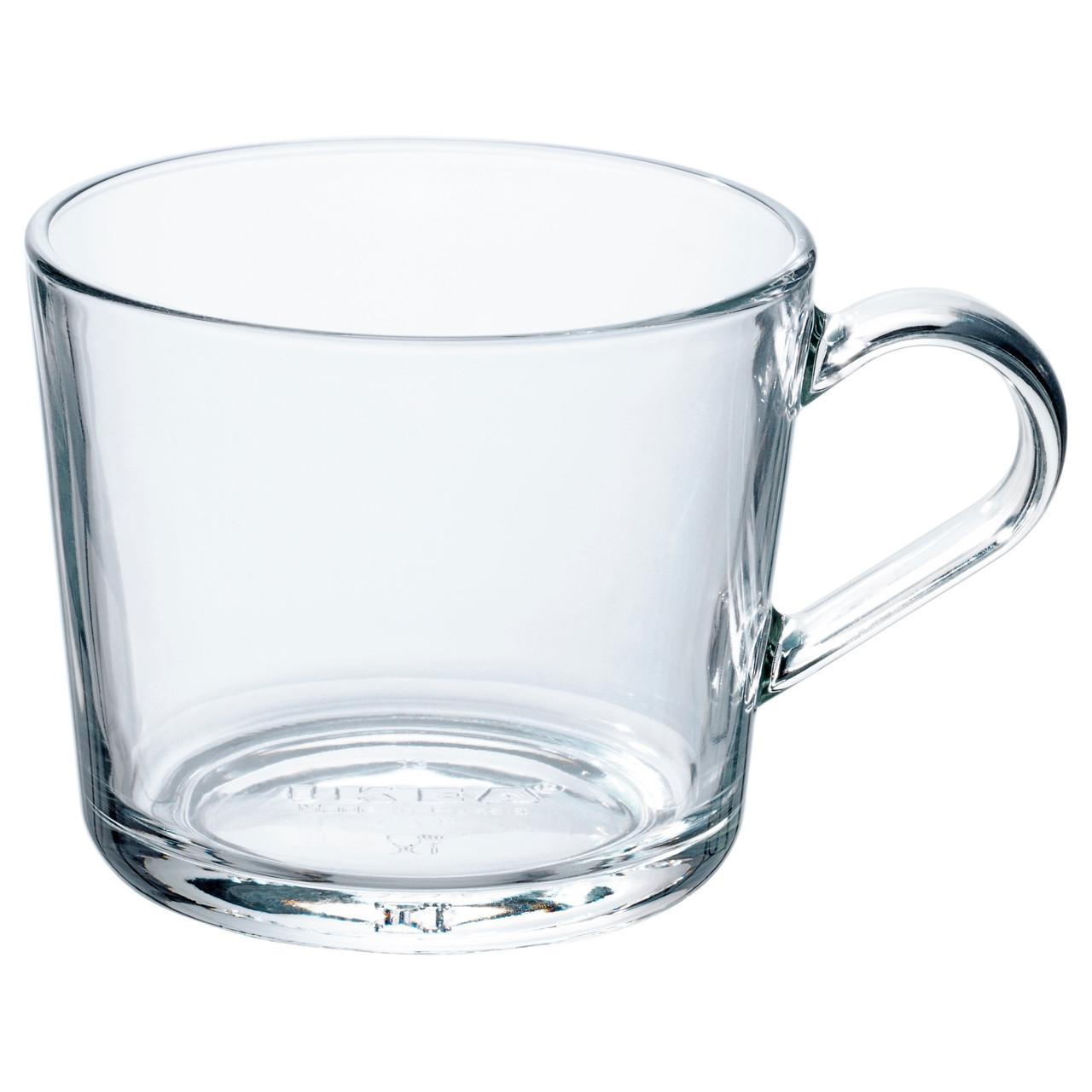 Кружка IKEA 365+ прозрачное стекло 102.797.23