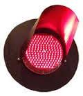 Светофорными лампа красная 104646