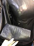 Чорна шкіряна куртка строгого фасону про-во Туреччина, фото 4