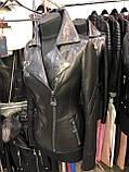 Черная классическая кожаная куртка про-во Турция, фото 3