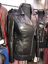 Черная классическая кожаная куртка про-во Турция