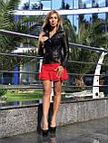 Черная классическая кожаная куртка про-во Турция, фото 9