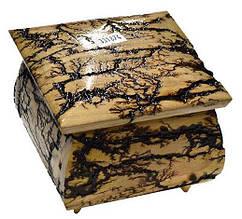 Скринька СТРУМ дерев. лакиров. темна 11х11см. ручне резьбление