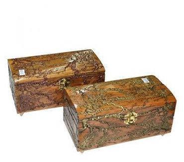Шкатулка ТОК дерев. лакиров. темная 21х11см. ручное резьбление, фото 2