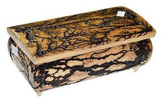 Скринька СТРУМ дерев. лакиров. темна 21х11см. ручне резьбление