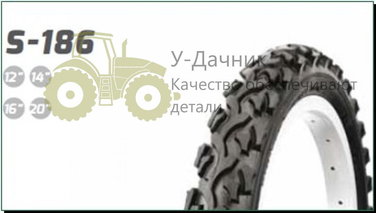 Велосипедная шина   14 * 1,75   (47-254)   (S-186 косичка синяя полоса)   Delitire-Индонезия   (#LTK)