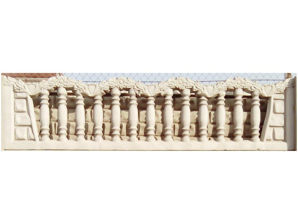 Плита забора (форма венок) (h-500/l-2000)(g-48...66кг)