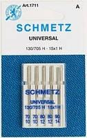 Иглы Schmetz универсальные №70(2)80(2),90(1) 5 шт.