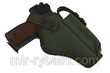 Кобура поясная АПС (автоматический пистолет Стечкина) с чехлом под магазин (cordura 1000d, олива)