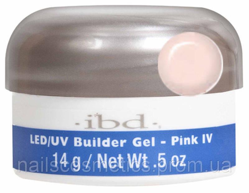 LED/UV Builder Gel Pink IV, 14 мл. - конструирующий камуфлирующий розовый гель
