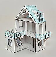 Кукольный домик NestWood Мини коттедж для ЛОЛ с мебелью 9 шт Мятный (kdl002m)