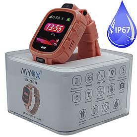 Дитячі водонепроникні GPS годинник MYOX МХ-26GW Sport з камерою Рожеві