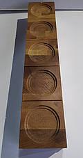 Фирменные деревянно-стеклянные подставки для бурбона Glenmorangie. Дисплей для виски Гленморанж., фото 3