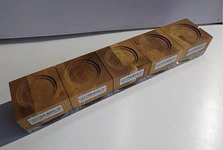 Фирменные деревянно-стеклянные подставки для бурбона Glenmorangie. Дисплей для виски Гленморанж., фото 2