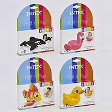 Intex Игрушки 58590 NP (36) надувные, 4 вида (касатка, фламинго, рыба, уточка), от 2-х лет