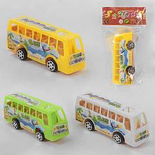 Автобус 399-168 (1800/2) 3 цвета, инерция, 1шт в кульке