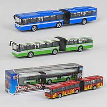 Автобус металлопластик 6576 (96/2) 4 вида, инерция, в коробке