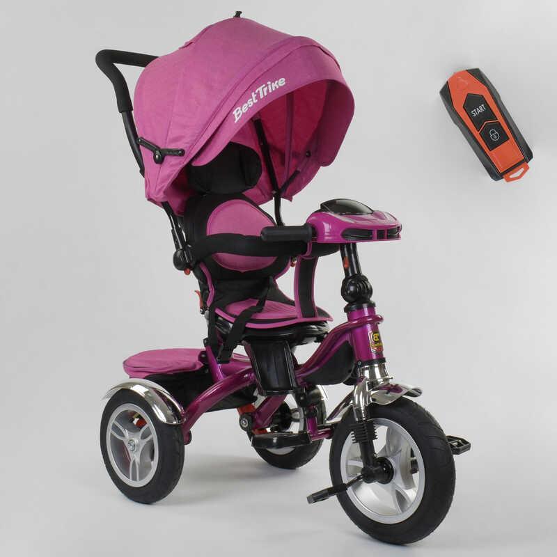 Велосипед 3-х колёсный 5890 / 82-239 Best Trike (1) ФАРА C USB, ПОВОРОТНОЕ СИДЕНИЕ, СКЛАДНОЙ РУЛЬ, Рус.озвучка, НАДУВНЫЕ КОЛЕСА, ПУЛЬТ(свет,звук)