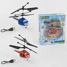 """Вертолет 40555 """"TK Group"""" (120) 2 цвета, СЕНСОРНОЕ УПРАВЛЕНИЕ, LED-подсветка, USB зарядка, гироскоп, в коробке"""