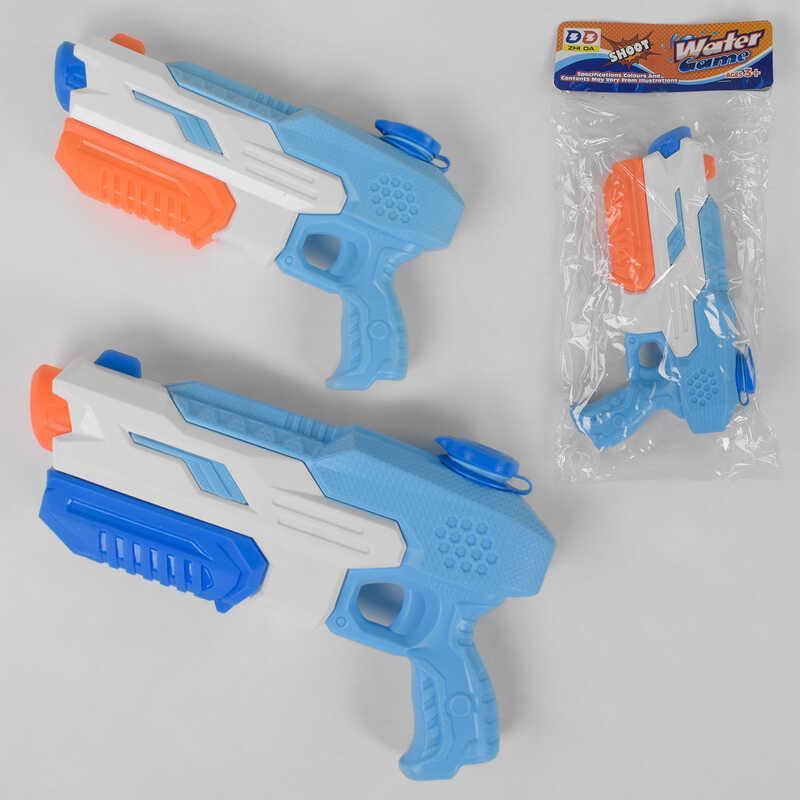 Водный пистолет 1028 (96/2)  2 вида, с накачкой, в кульке