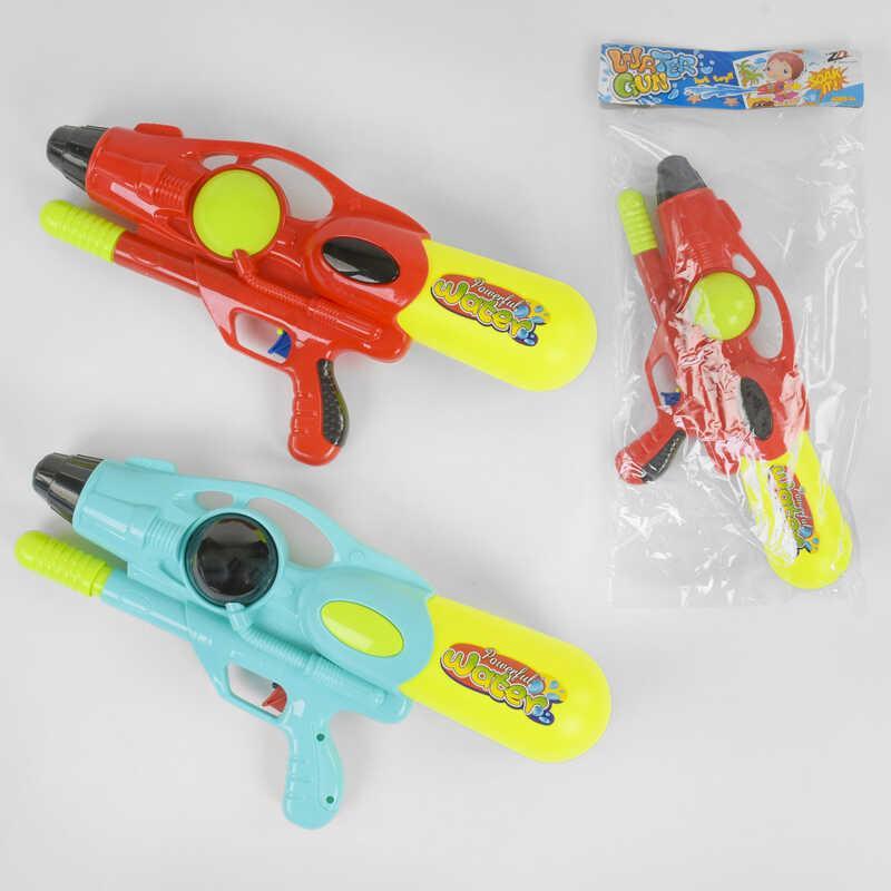 Водный пистолет 1038 (48/2) 2 цвета, с накачкой, в кульке