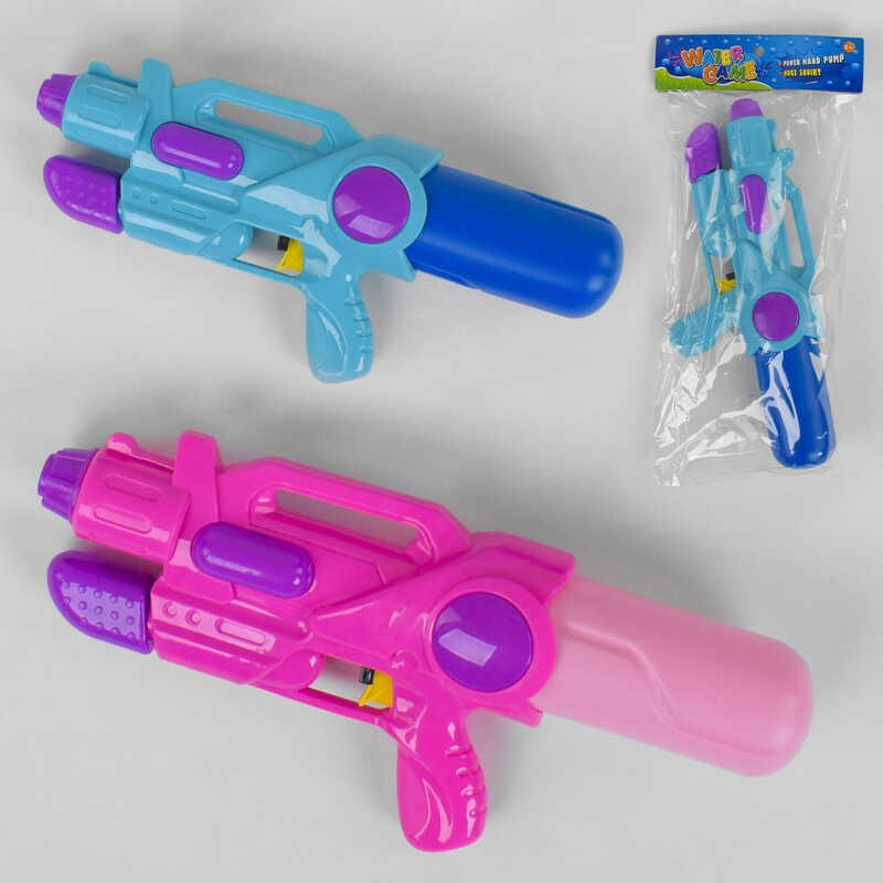 Водный пистолет 2823-31 B (120/2) 2 цвета, с накачкой, в кульке