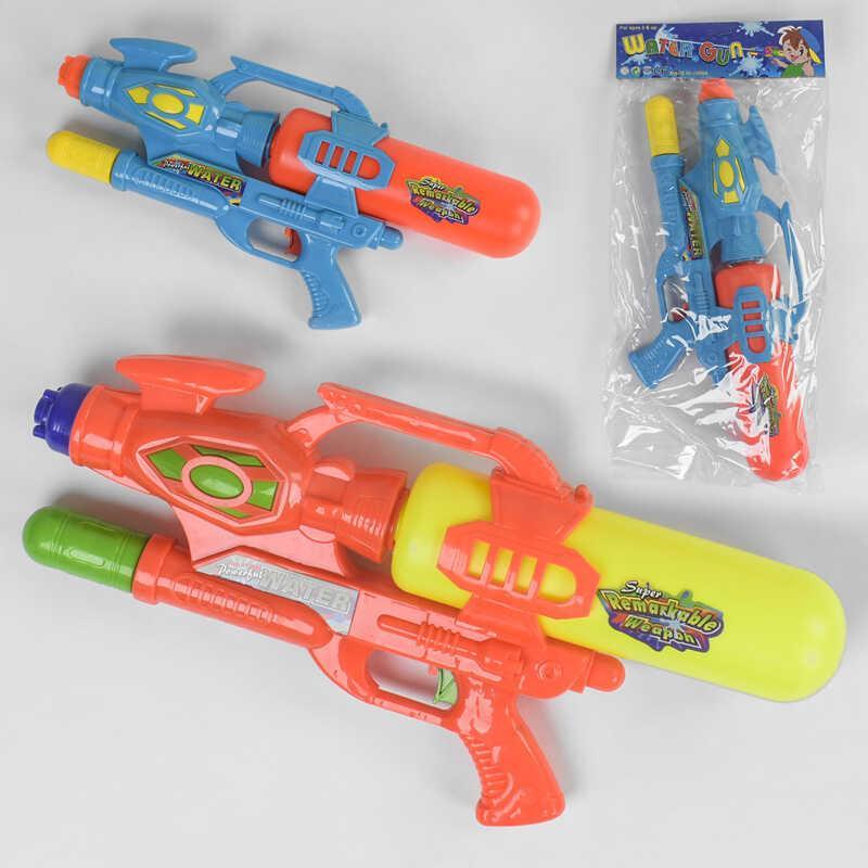 Водный пистолет 350 (36/2) 2 цвета, с накачкой, в кульке
