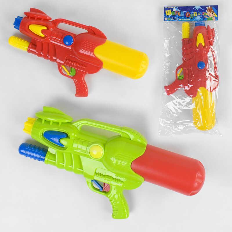 Водный пистолет 507 (48/2) 2 цвета, с накачкой, в кульке