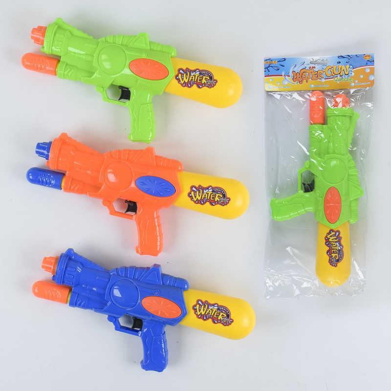 Водный пистолет А 111 (96/2) 3 цвета, с насосом, 1шт в кульке