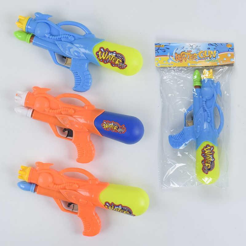 Водный пистолет А 125 (180/2) 3 цвета, с насосом, 1шт в кульке