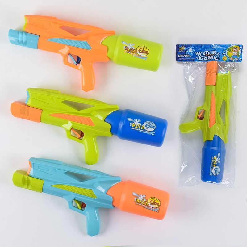 Водный пистолет М 903 Q (96/2) 3 цвета, с насосом, в кульке
