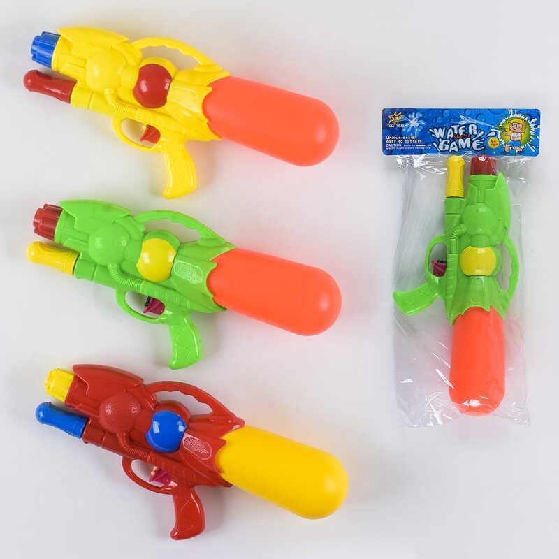 Водный пистолет с накачкой М 393 (120) 3 вида, в кульке