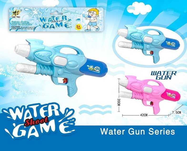 Водный пистолет с накачкой М 820 F (60/2) 2 цвета, в кульке
