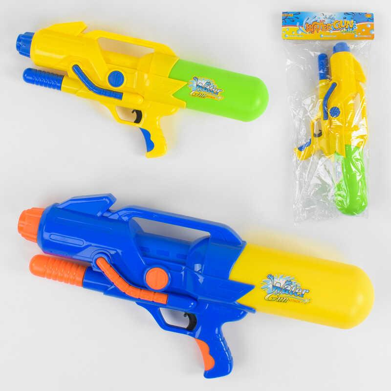Водяной пистолет A 157 (24/2) 2 цвета, с насосом, в кульке
