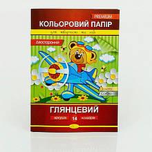 Гр Бумага цветная А4 14 листов КПД-А4-14 (50)