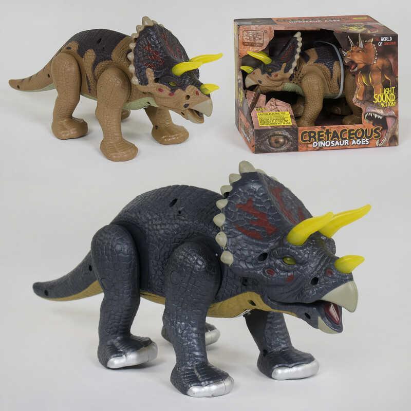 Динозавр WS 5301 (24/2) 35 см, ходит, подсветка, звук, 2 вида, в коробке